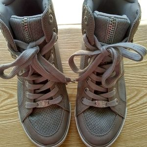 G by Guess grey high top sneakers size 6 and 1/2